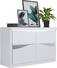 Dabria Small Wooden Sideboard In White Gloss With