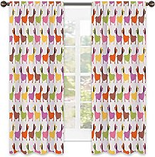 Dachshund 99% blackout curtain, Abstract Colorful