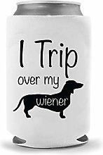 Dachshund Dog Beer Holder - Trip Over My Weiner |