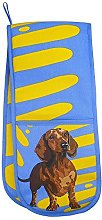 Dachshund Double Oven Glove Potholder by Leslie