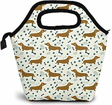 Dachshund Sausage Dog Lunch Bag for Adults and