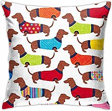 Dachshunds Throw Pillow Cover Decorative Pillow
