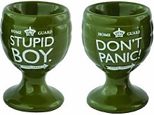 Dad's Army Egg Cup Set (Don't Panic /