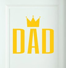 Dad Door Room Wall Sticker Happy Larry Colour: