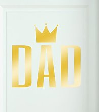 Dad Door Room Wall Sticker Happy Larry Colour: