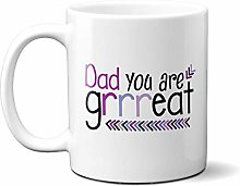 Dad You are Grrreat Purple Arrows 15oz Ceramic Mug