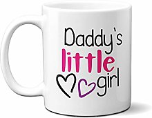 Daddy's Little Girl Two Hearts 15oz Ceramic Mug