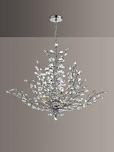 Där Cordelia Crystal Chandelier Ceiling Light,