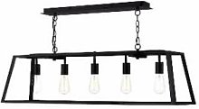 Där Lighting - Black Academy 5 Light Pendant -