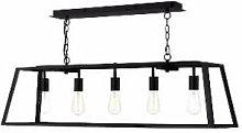 Där Lighting - Black Academy 5 Light Pendant -