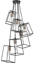 Där Lighting - Black & Copper Cluster Tower 6
