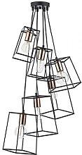 Där Lighting - Black & Copper Cluster Tower 6