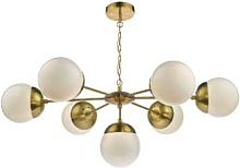 Där Lighting - Brass White Bombazine 7 Pendant