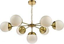 Där Lighting - Brass White Bombazine 7 Pendant