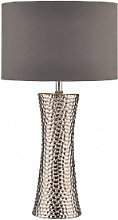 Där Lighting - Silver Bokara Table Lamp -