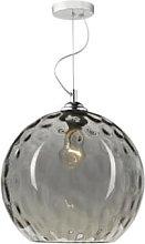 Där Lighting - Silver Smoked Glass Aulax Pendant