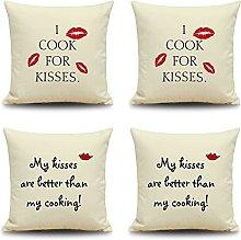 Daesar 18x18 Cushion Covers 4 Pack, 18x18
