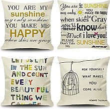 Daesar 4 Pack Outdoor Pillow Covers, Soft Throw