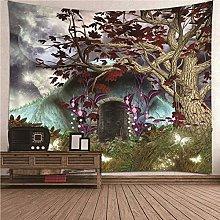 Daesar Art Tapestry, Tapestry Psychedelic Brown
