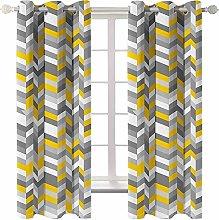 Daesar Bedroom Blackout Curtains 2 Panel Sets,