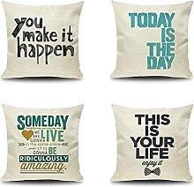 Daesar Decorative Pillow Cases 4 Pack, 16x16