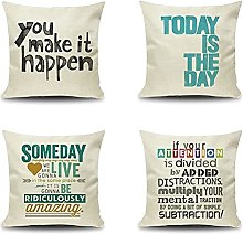 Daesar Decorative Pillow Cases 4 Pack, 18 Inch