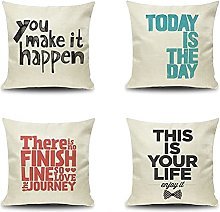 Daesar Pillowcase Covers 4 Pack, 16x16 Cushion