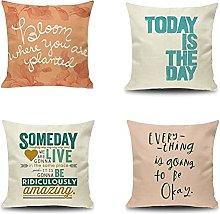 Daesar Pillowcase Covers 4 Pack, Pillow Cover 18 x