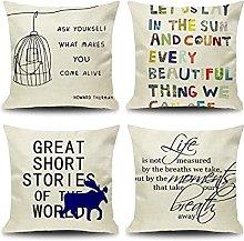 Daesar Pillowcases 4 Pack, 20x20 Pillow Case