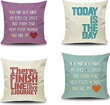 Daesar Pillows Cases 4 Pack, Cushion Cover 16x16