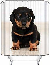 Daesar Shower Curtain Polyester Fabric Dog