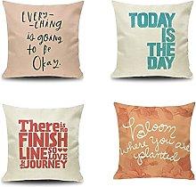 Daesar Sofa Pillow Cases 4 Pack, 16x16 Pillow Case