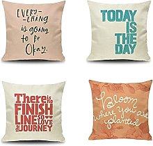 Daesar Sofa Pillow Cases Pack Of 4, Pillow Case