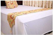 Daesar Table Runner 16x210CM, Cotton Linen Table