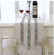 Daesar Table Runner 32x180CM, Cotton Linen Table