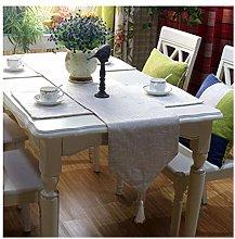 Daesar Table Runner 32x200CM, Linen Cotton Table