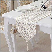 Daesar Table Runner 33x120CM, Cotton Linen Table