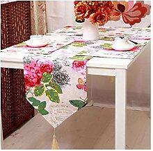 Daesar Table Runner 33x160CM, Linen Cotton Table