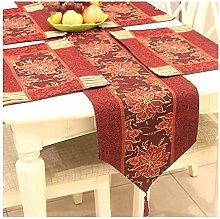 Daesar Table Runner 33x180CM, Cotton Linen Table