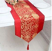 Daesar Table Runner 33x250CM, Cotton Linen Table