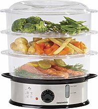 Daewoo 3 Layer Food Steamer, 9L Capacity,
