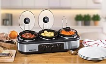 Daewoo Non-Stick Triple Slow Cooker