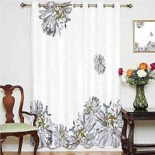 Dahlia Flower Decor Blackout Curtain Flourishing