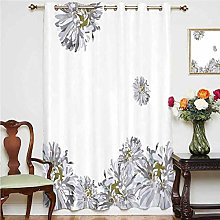 Dahlia Flower Decor Window Curtain Flourishing
