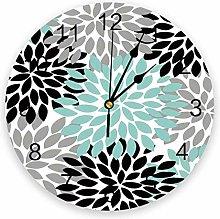 Dahlia Pinnata Flower PVC Wall Clock, Silent
