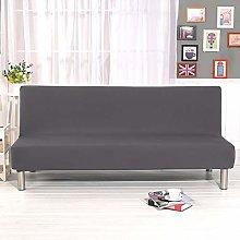DAHUAJIA Grey Universal Armless Sofa Bed Cover