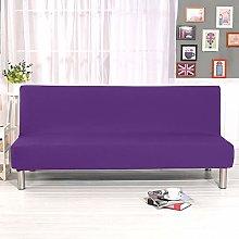 DAHUAJIA Purple Universal Armless Sofa Bed Cover