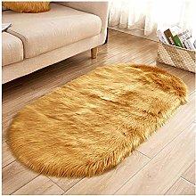 DaiHan Oval Super Soft Plush Fluffy Faux Sheepskin