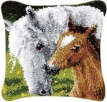 Dailymall Latch Hook kits Pillow Diy Handmade