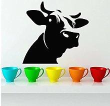 Dairy Cow Head Wall Decal Farm Animals Art Mural